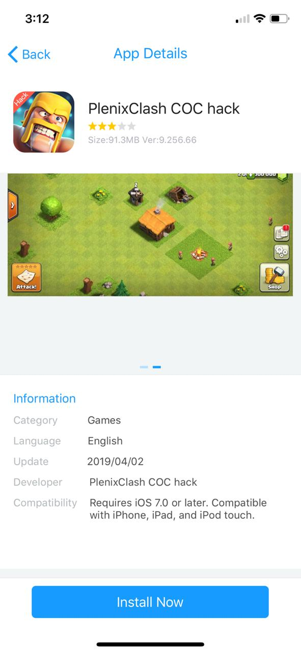 Install Clash of Clans Game on iOS - Panda Helper APK