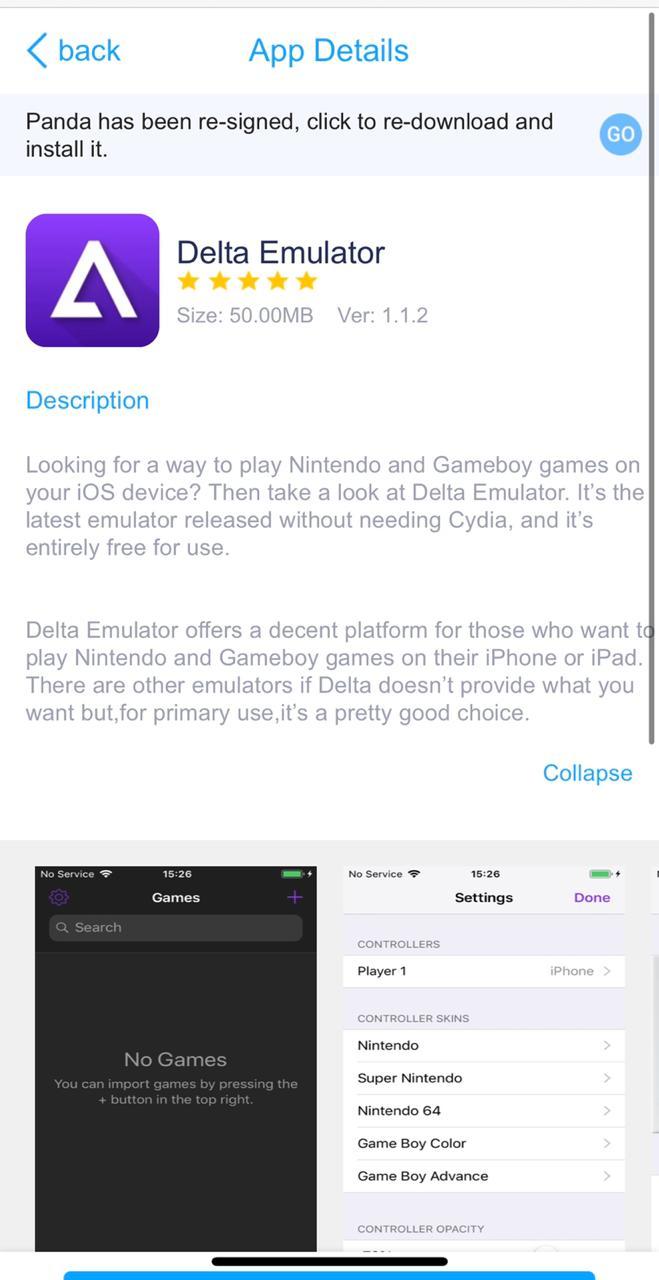 Delta Emulator on iOS