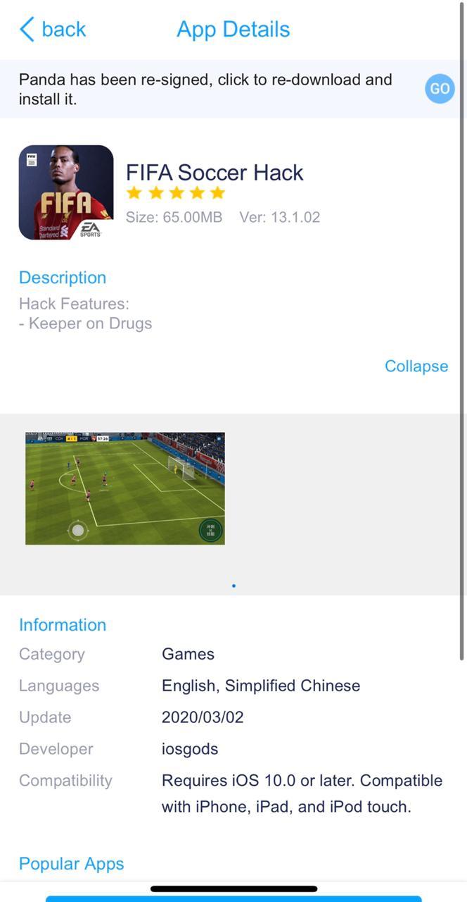 FIFA Soccer Hack Install on iOS