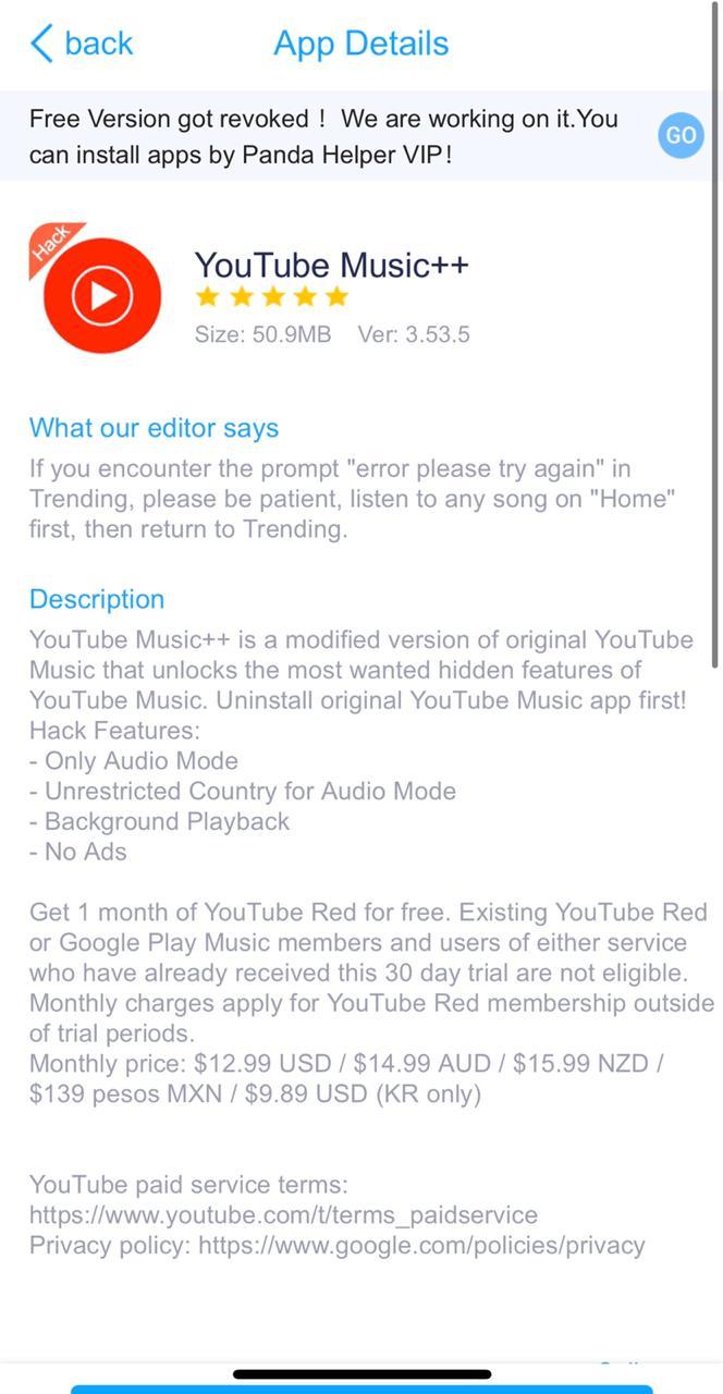 YouTube Music++ | App Description