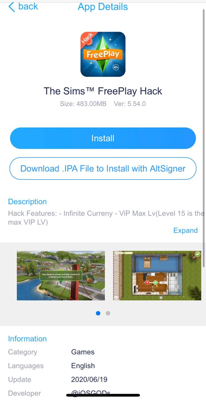 Download Sims FreePlay Hack